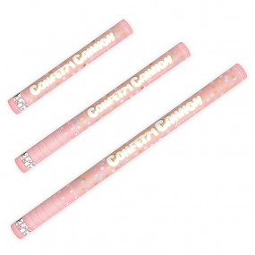 Canhão Confettis Bolinhas Douradas e Prata - 40cm