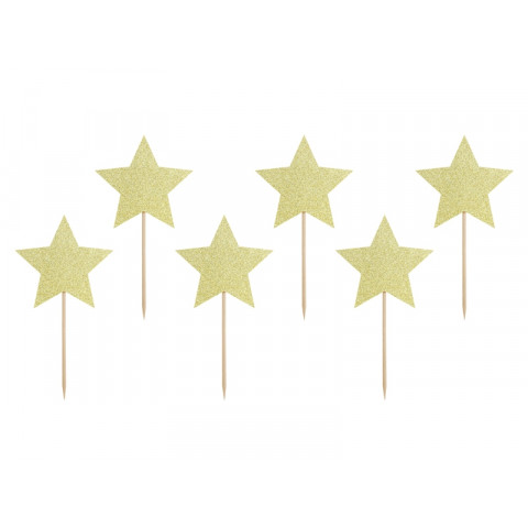 Toppers Estrelas Glitter Ouro