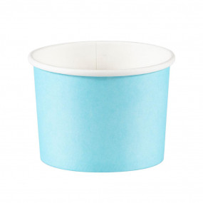 Copos Gelado / Pipocas Azul Claro - conj. 8