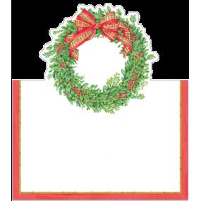 Cartões Marcadores Coroa Natal