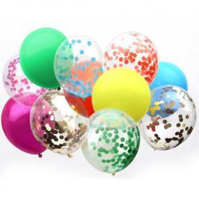 Balões Confetis e Lisos - Conj. 12