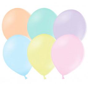 10 Balões Pastel