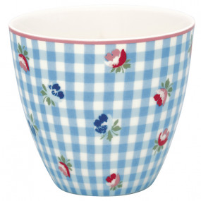 LATTE CUP Viola Check Pale Blue Greengate