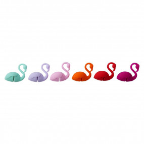 Marcadores Copos Flamingos - conj.6