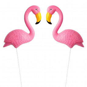 FLAMINGOS DECORATIVOS - CONJ.2