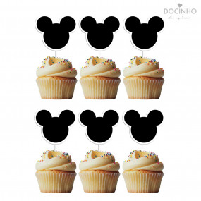 6 Toppers Cabeça Mickey