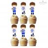 6 Toppers Futebol Azul