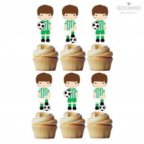 6 Toppers Futebol Verde