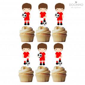 6 Toppers Futebol Vermelho