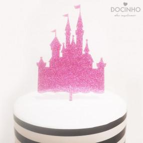 Topo Bolo Castelo Glitter