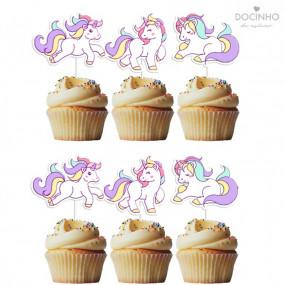 6 Toppers Unicornios