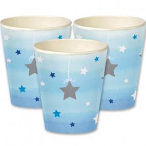 Copos Azul Claro Estrelas