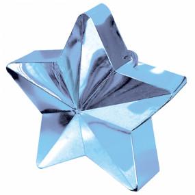Peso Balão Estrela Azul Claro