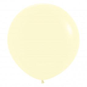 Balão Matte Pastel Amarelo 60cm
