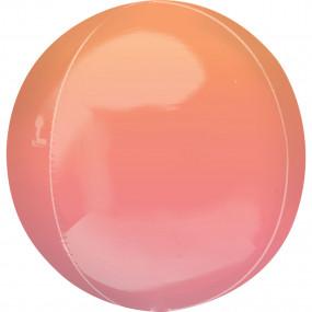 Balão Orbz OMBRE Laranja Coral