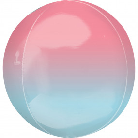 Balão Orbz OMBRE Encarnado + Azul