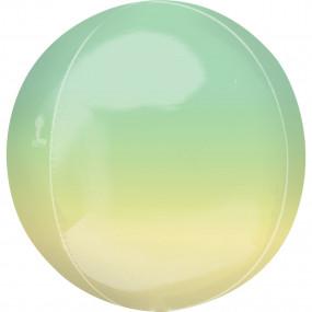 Balão Orbz OMBRE Amarelo Verde