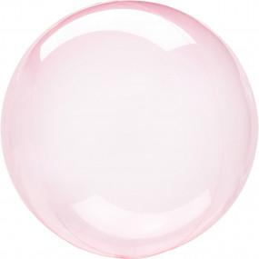 Balão Orbz Transparente Rosa 46cm