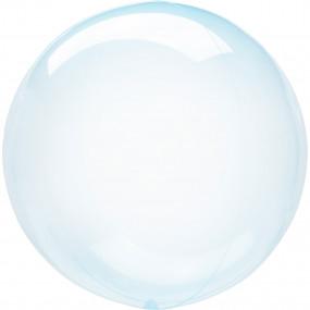 Balão Orbz Transparente Azul 46cm
