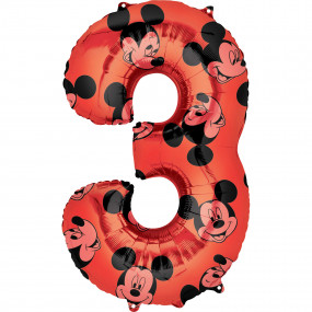 Balão Grande Número Mickey -3
