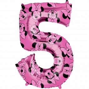 Balão Grande Número Minnie -5