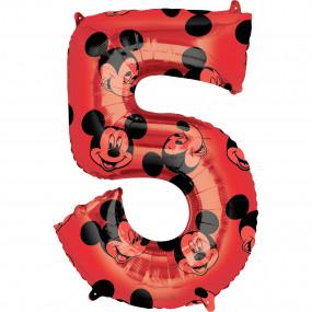Balão Grande Número Mickey -5