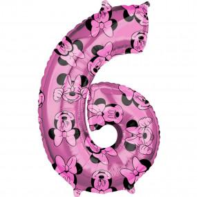 Balão Grande Número Minnie -6
