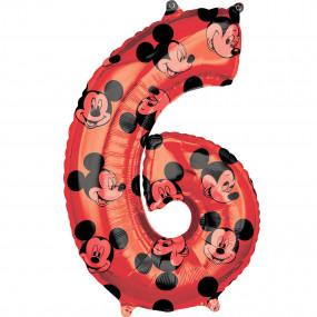 Balão Grande Número Mickey -6