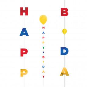 Fita Para Balão Happy Birthday
