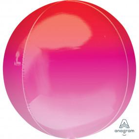 Balão Orbz OMBRE Rosa Vermelho