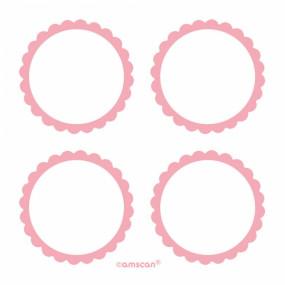 Etiquetas 5cm Rosa