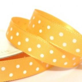 Fita Cetim 10mm - Amarelo Bolas