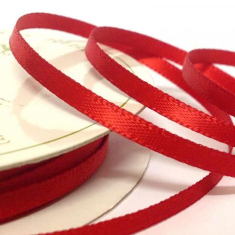 Fita 6mm - cetim vermelha
