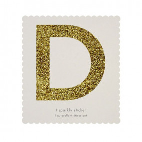 Letra Autocolante Glitter - D