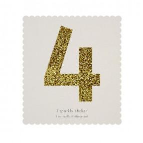 Número Autocolante Glitter - 4