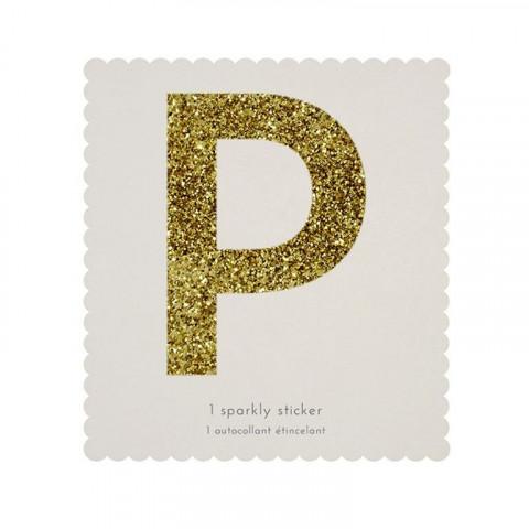 Letra Autocolante Glitter - P