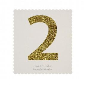 Número Autocolante Glitter - 2