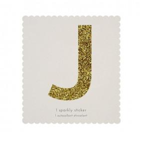 Letra Autocolante Glitter - J
