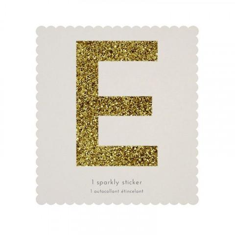 Letra Autocolante Glitter - E