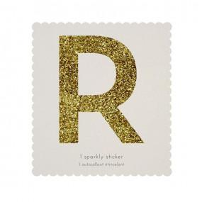 Letra Autocolante Glitter - R