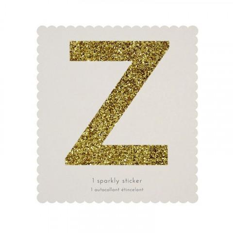 Letra Autocolante Glitter - Z