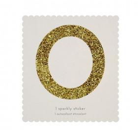 Número Autocolante Glitter - 0