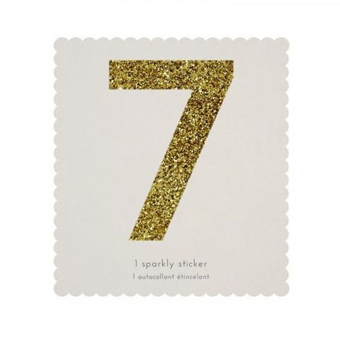 Número Autocolante Glitter - 7