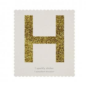 Letra Autocolante Glitter - H
