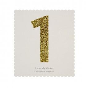 Número Autocolante Glitter - 1