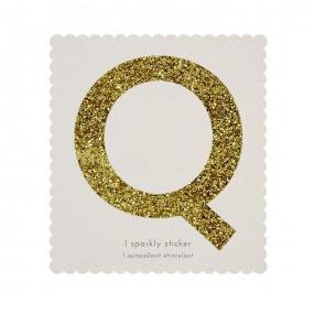 Letra Autocolante Glitter - Q