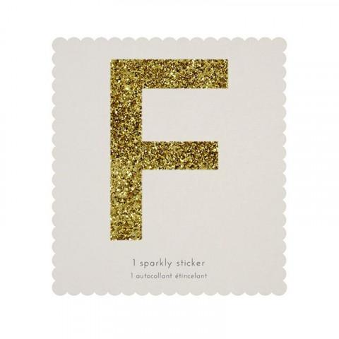 Letra Autocolante Glitter - F