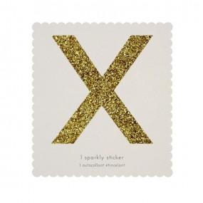 Letra Autocolante Glitter - X