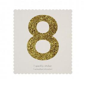Número Autocolante Glitter - 8