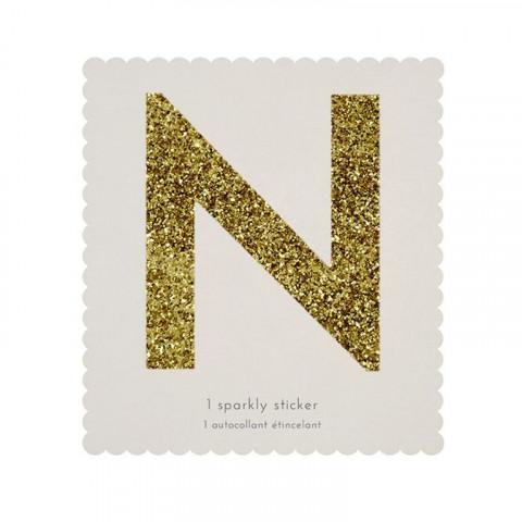 Letra Autocolante Glitter - N